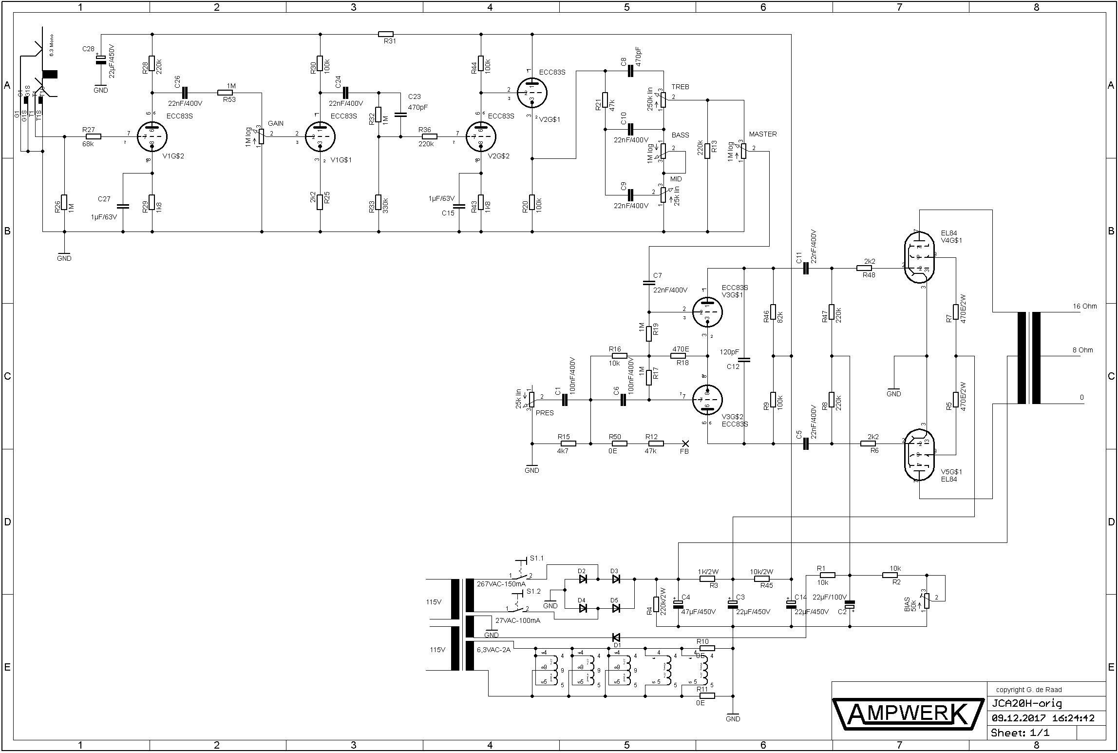 Together With 6l6 Tube Lifier Schematic On 6l6 Tube Schematics